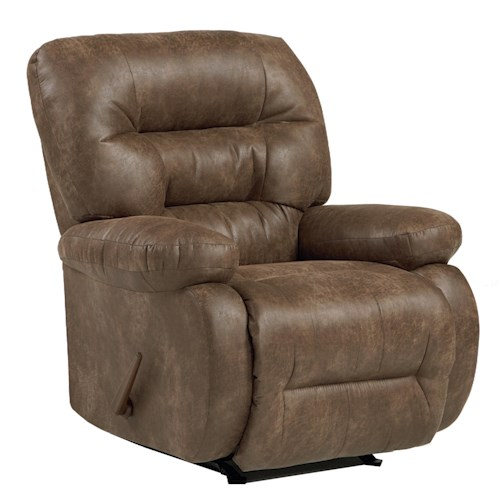 Best Home Furnishings Recliners - Medium Maddox Power Rocker Recliner with Line-Tufted Back