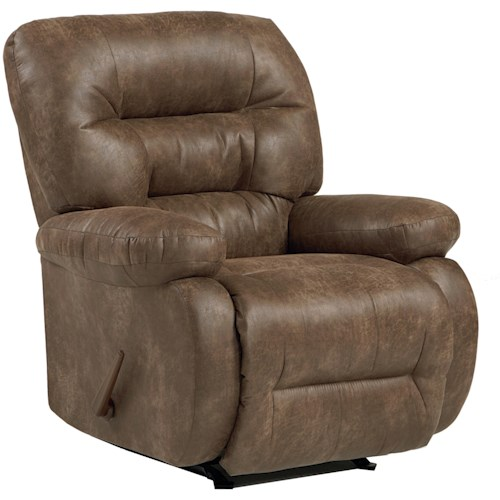 Best Home Furnishings Medium Recliners Maddox Power Rocker Recliner with Line-Tufted Back