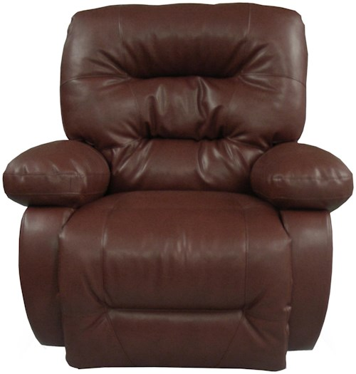Best Home Furnishings Recliners - Medium Maddox Swivel Rocker Recliner with Line-Tufted Back