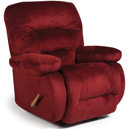 Best Home Furnishings Medium Recliners Maddox Swivel Rocker Recliner with Line-Tufted Back