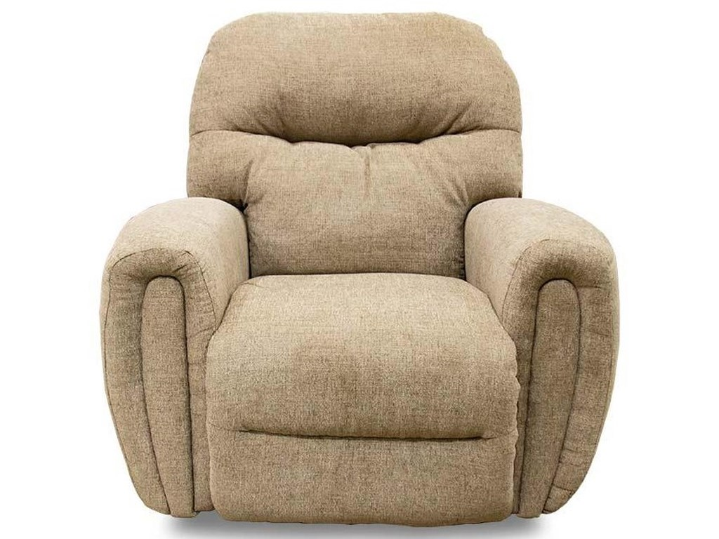 Best Home Furnishings Medium ReclinersMarkson Pecan Rocker Recliner
