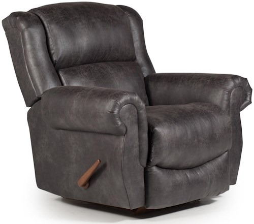 Best Home Furnishings Recliners - Medium Terrill Power Space Saver Recliner with Rolled Arms