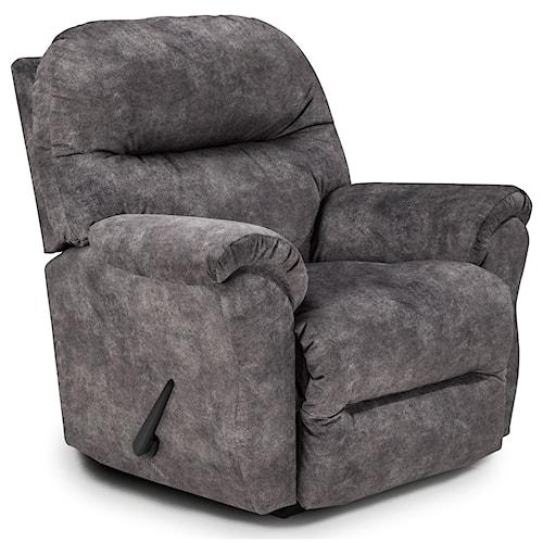 Best Home Furnishings Medium Recliners Bodie Swivel Rocking Reclining Chair