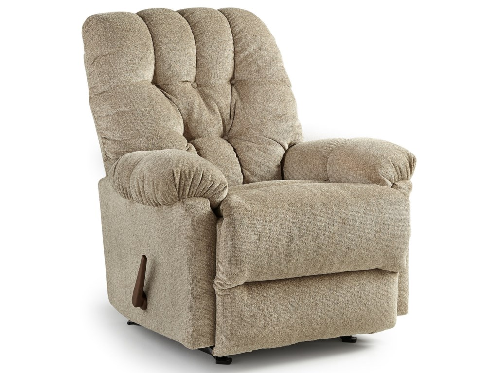 Best Home Furnishings Medium ReclinersRaider Power Rocker Recliner
