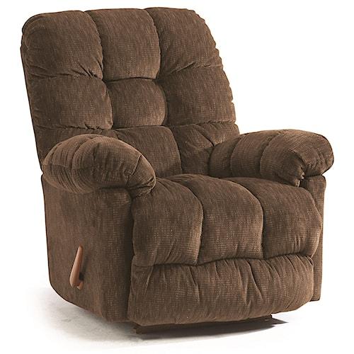 Best Home Furnishings Medium Recliners Brosmer Rocking Reclining Chair
