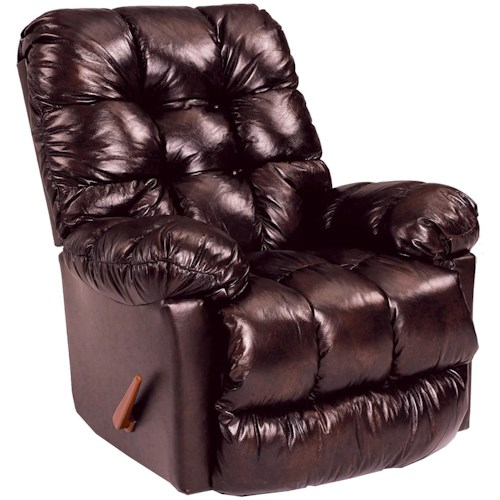 Best Home Furnishings Medium Recliners Brosmer Rocker Recliner with Massage and Heat