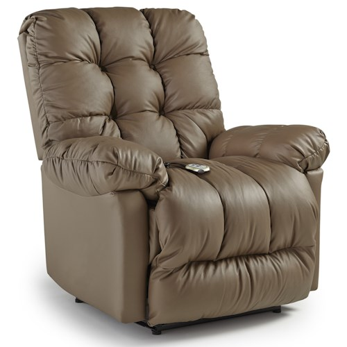Best Home Furnishings Recliners - Medium Brosmer Power Lift Recliner with Massage and Heat