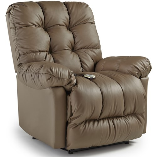 Best Home Furnishings Medium Recliners Brosmer Power Lift Recliner with Massage and Heat
