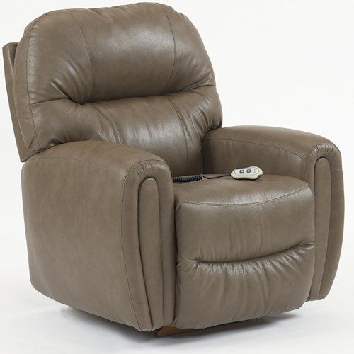 Best Home Furnishings Medium Recliners Markson Power Rocker Recliner with Dome Arms