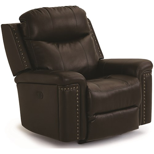 Best Home Furnishings Optima Power Rocker Recliner with Power Tilt Headrest and USB Charging Port