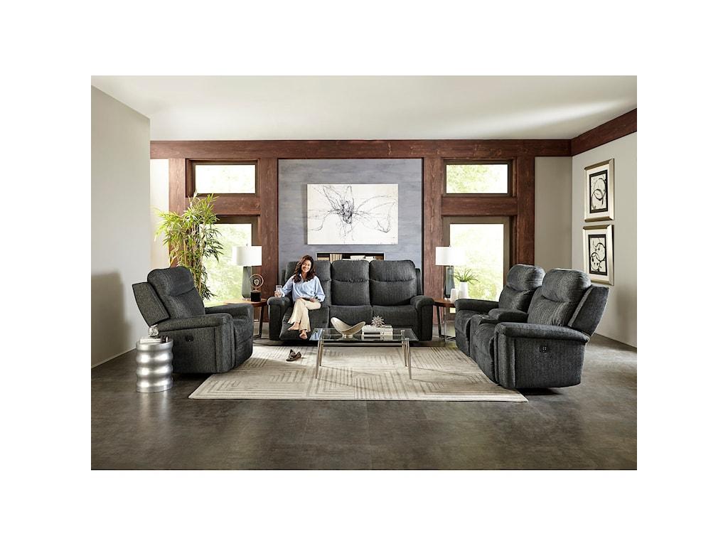 Best Home Furnishings OptimaPower Tilt Headrest Wall Saver Reclining Sof