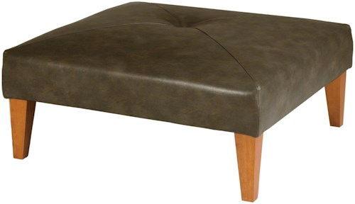 Best Home Furnishings Ottomans Vero Cocktail Ottoman with Wood Legs