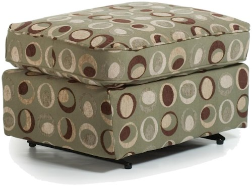 Best Home Furnishings Ottomans Smooth Rounded Casual Ottoman