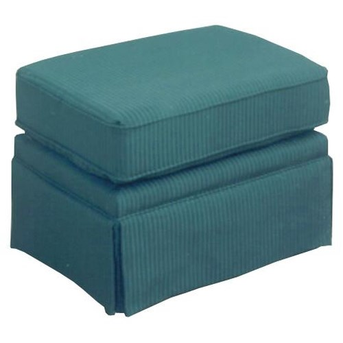 Best Home Furnishings Ottomans Rectangular Ottoman without Welt  Cord Trim