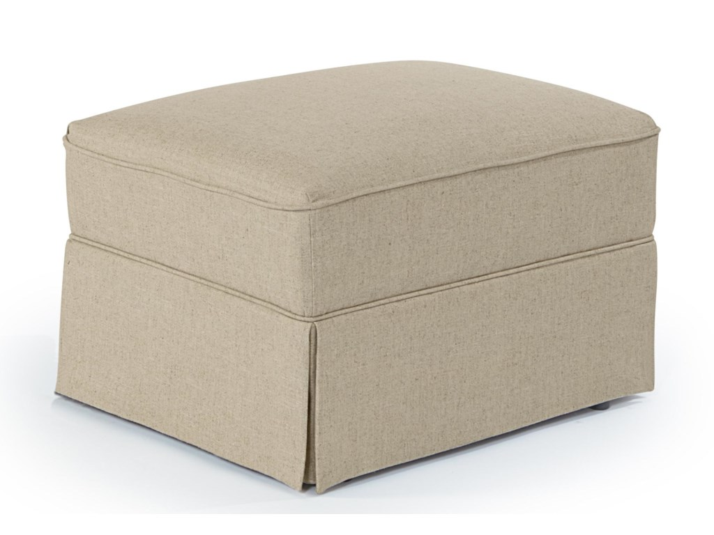 Best Home Furnishings OttomansSkirted Glide Ottoman