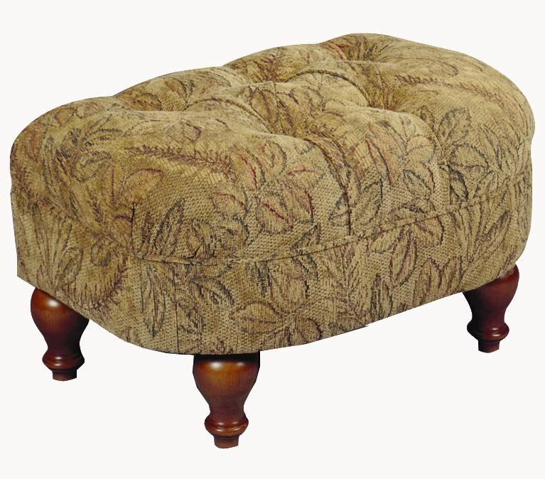 Plush Rectangular Cushioned Ottoman