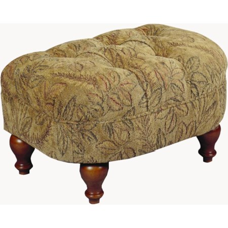 Plush Cushioned Ottoman