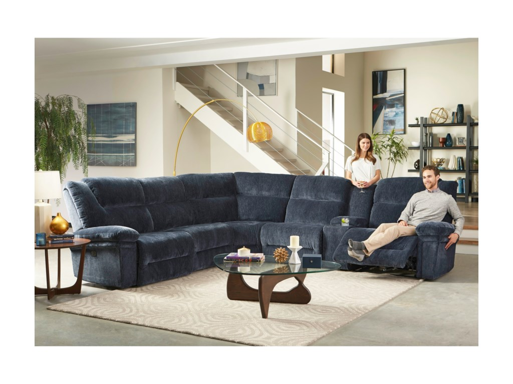 Best Home Furnishings Parker6 Pc Power Reclining Sectional w/ Pwr Head