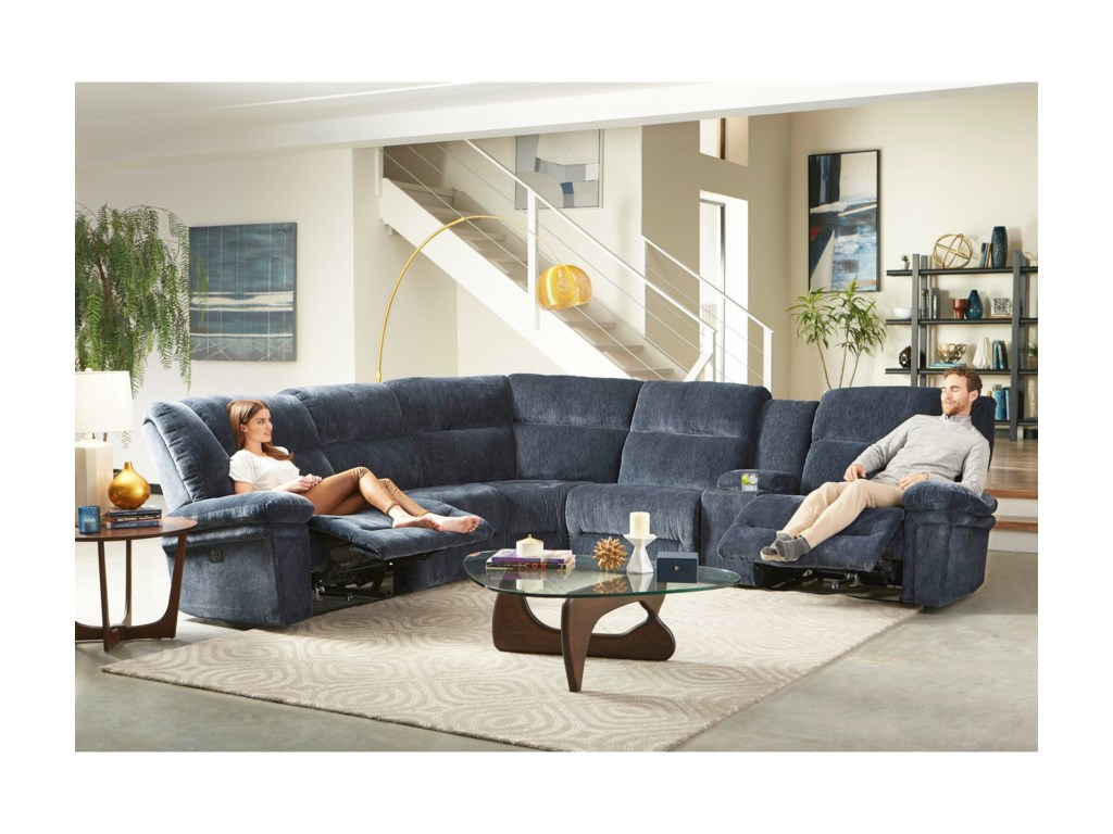 Best Home Furnishings Parker6 Pc Reclining Sectional Sofa