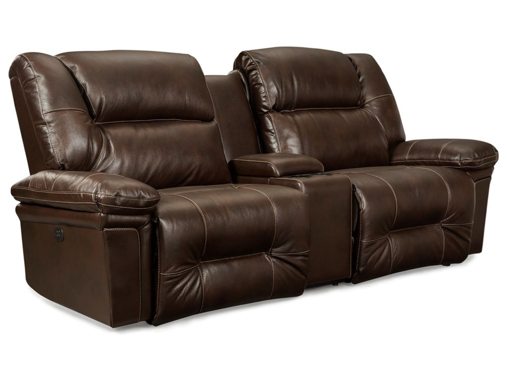 Best Home Furnishings ParkerSpace Saver Reclining Sofa w/ Console