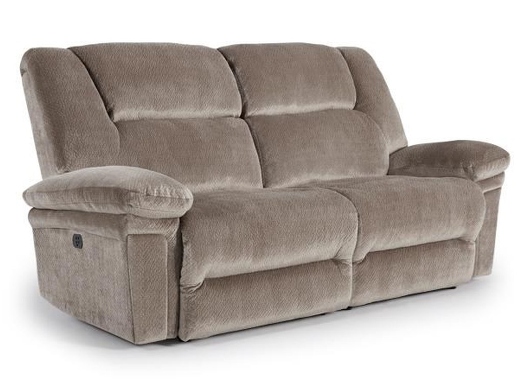 Best Home Furnishings ParkerPwr Space Saver Reclining Sofa w/ Pwr Head