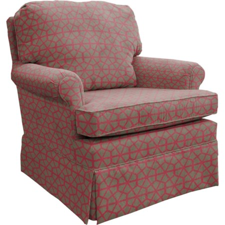 Swivel Rocking Club Chair