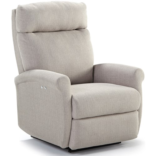 Best Home Furnishings Petite Recliners Swivel Glider Recliner with Rolled Arms
