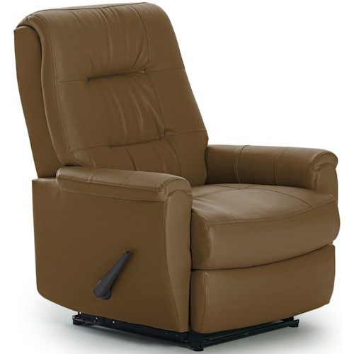 Best Home Furnishings Petite Recliners Felicia Rocker Recliner with Button-Tufted Back