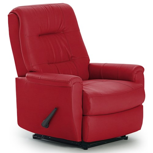 Best Home Furnishings Recliners - Petite Felicia Rocker Recliner with Button-Tufted Back
