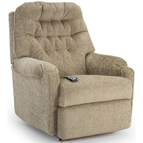 Best Home Furnishings Petite Recliners Sondra Power Lift Recliner with Tufted Back