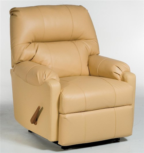 Best Home Furnishings Recliners - Petite JoJo Recliner Rocker with Rolled Arms
