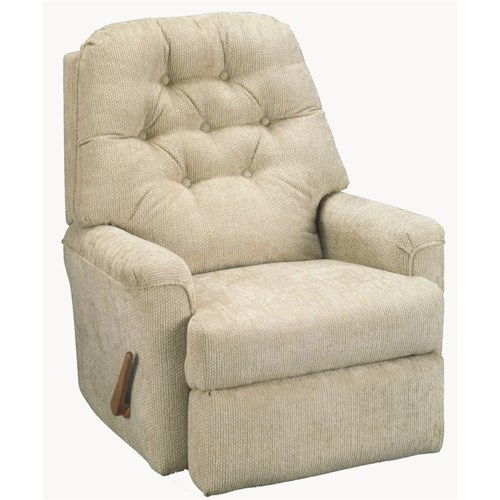 Best Home Furnishings Recliners - Petite Cara Wallhugger Recliner with Button Tufted Seat Back