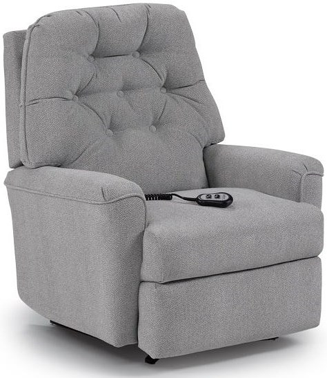 Best Home Furnishings Recliners - Petite Cara Rocker Recliner with Button Tufted Seat Back
