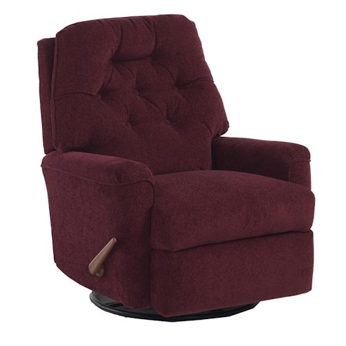 Best Home Furnishings Recliners - Petite Cara Rocker Recliner with Exterior Handle