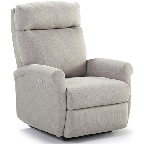 Best Home Furnishings Petite Recliners Space Saver Wall Recliner with Rolled Arms