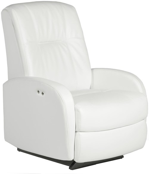 Best Home Furnishings Recliners - Petite Ruddick Space Saver Recliner with Line Tufting