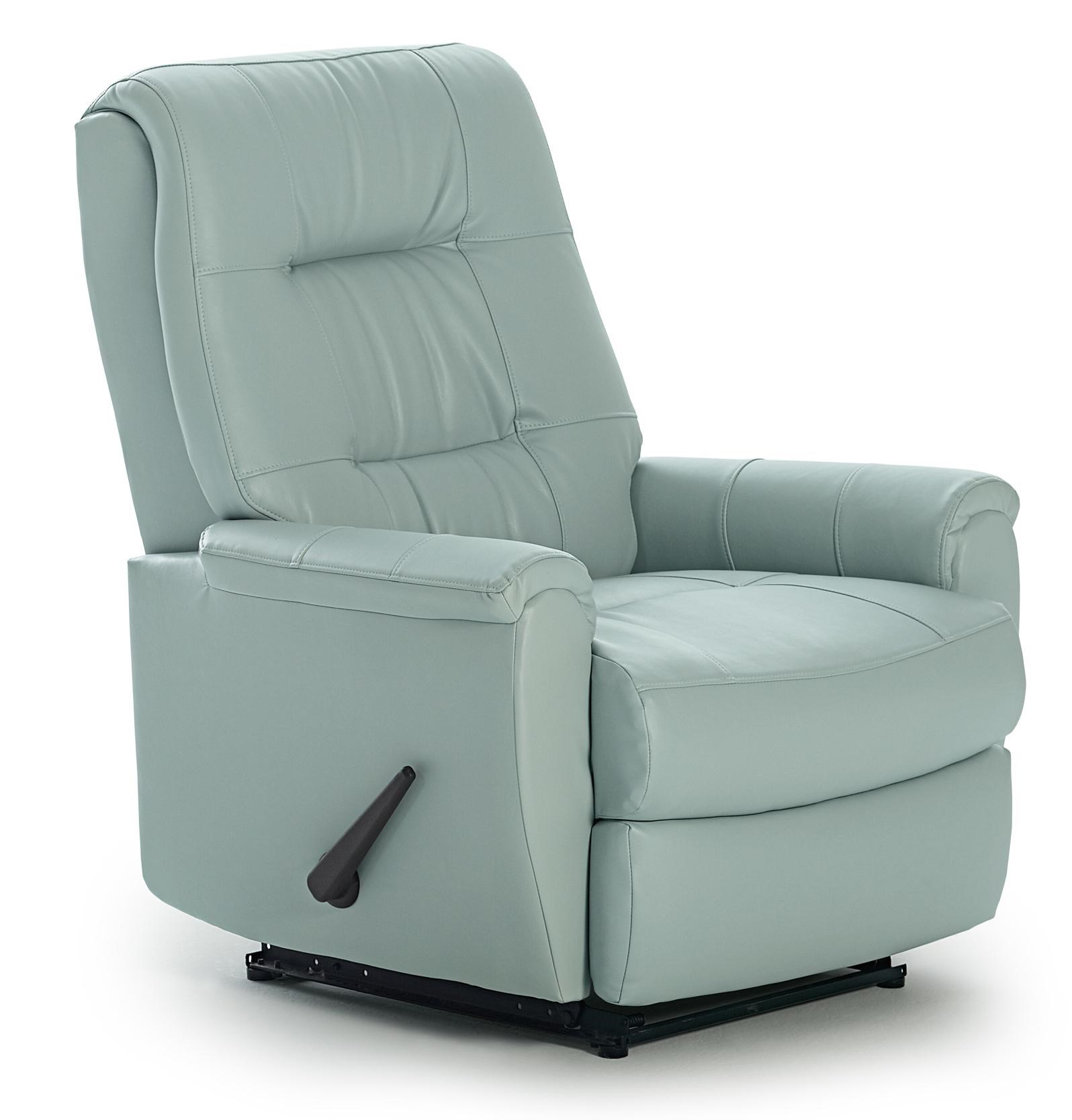 Charmant Best Home Furnishings Petite Recliners Felicia Swivel Rocker Recliner With  Button Tufted Back