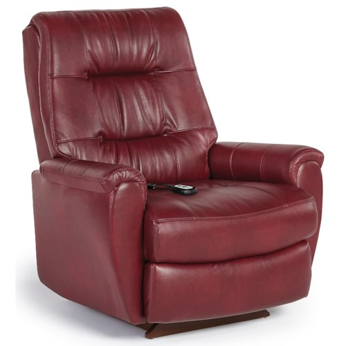 Best Home Furnishings Recliners - Petite Felicia Power Lift Recliner with Button-Tufted Back