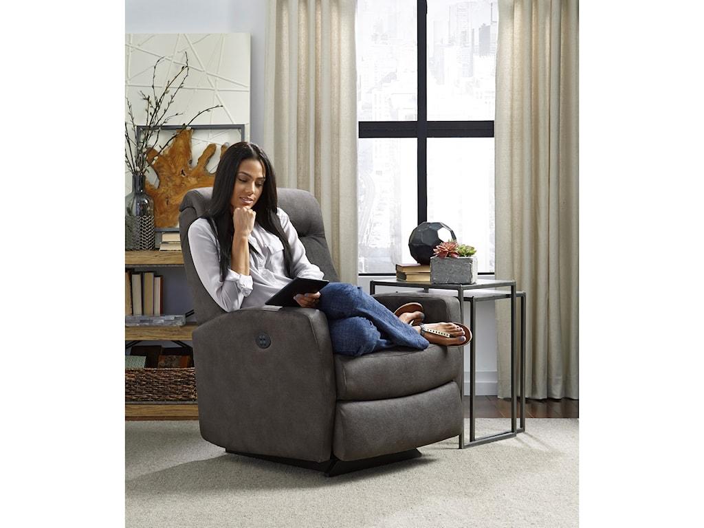 Best Home Furnishings Petite ReclinersCostilla Pwr Rocker Recliner w/ Pwr Headrest
