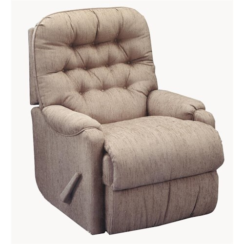 Best Home Furnishings Recliners - Petite Brena Rocker Recliner