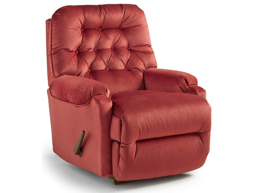 Best Home Furnishings Petite ReclinersBrena Power Rocker Recliner