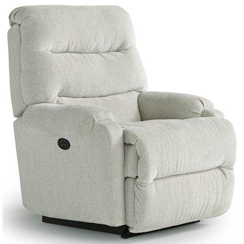 Best home furnishings petite recliners sedgefield power rocker recliner with power tilt headrest