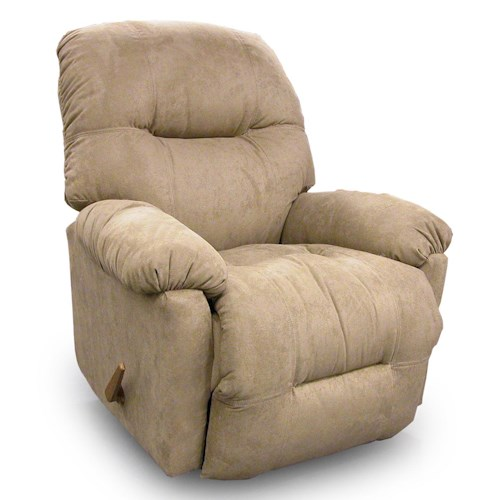 Best Home Furnishings Recliners - Petite Wynette Swivel Rocking Reclining Chair