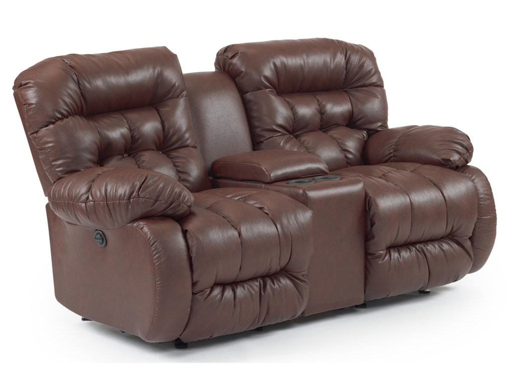 Best Home Furnishings PlusherSpace Saver Reclining Loveseat w/ Console