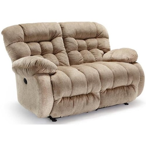Best Home Furnishings Plusher Power Space Saver Reclining Loveseat