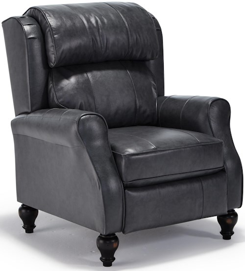 Best Home Furnishings Recliners - Pushback Traditional Patrick Powerized Recliner with Turned Wood Legs