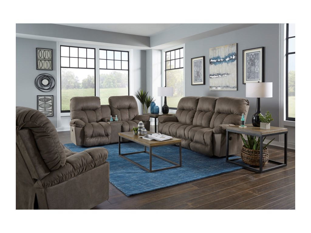 Best Home Furnishings RetreatPower Reclining Space Saver Console Loveseat