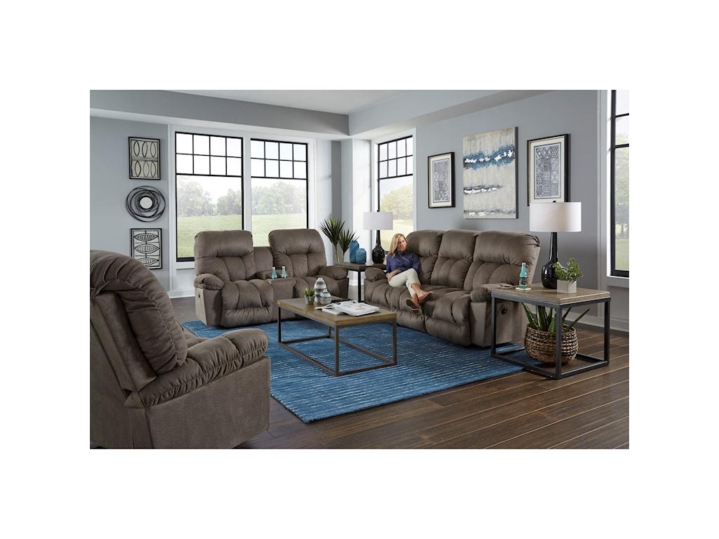 Best Home Furnishings RetreatPower Reclining Space Saver Sofa