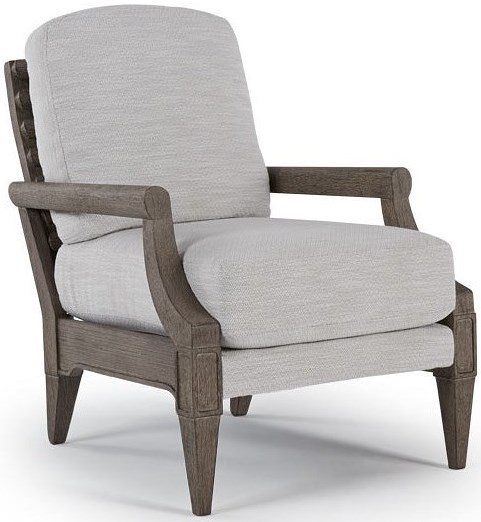 Best Home Furnishings Riley Accent Chair with Exposed Wood Slat Back