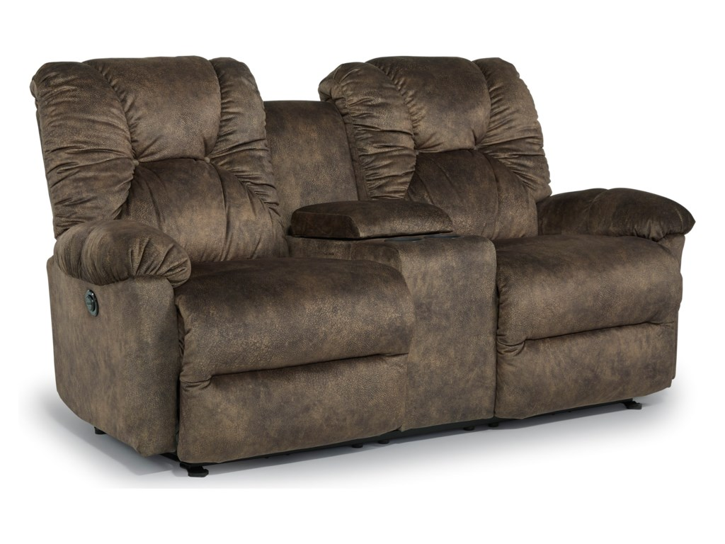 Best Home Furnishings RomulusPwr Rocking Reclining Loveseat with Console